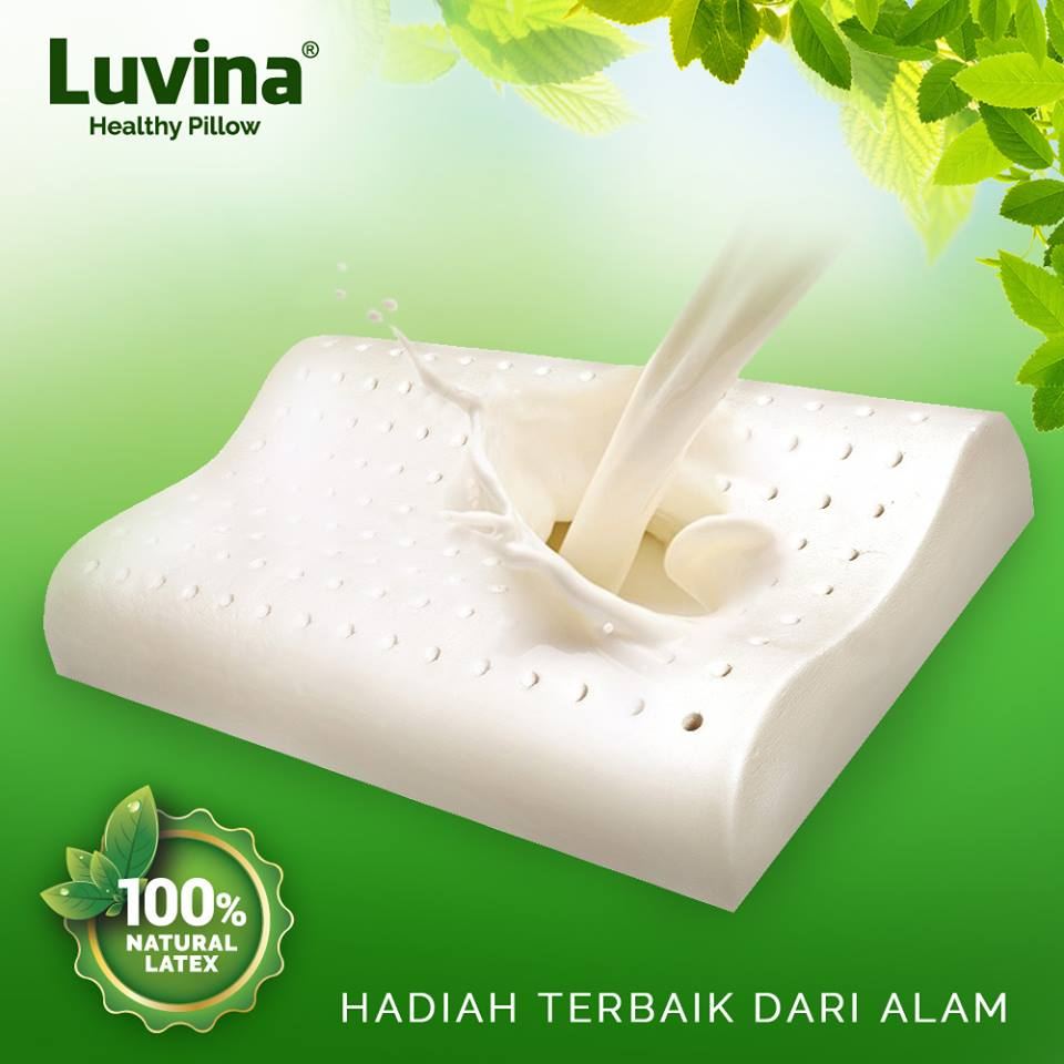Luvina Bantal Latex Lateks Produk Natural Anti Alergi Alami