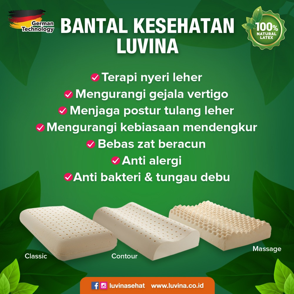 BUKAN BUSA BUKAN DUNLOPILLO BUKAN MEMORY FOAM BANTAL BULU ANGSA BANTAL BUSA BANTAL LATEX GERMAN ANTI TUNGAU DEBU ANTI ALERGI ANTI BAKTERI DAKRON NATURAL LATEX