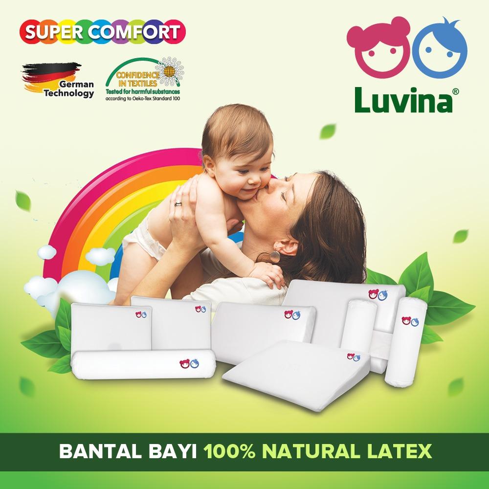 BANTAL LATEX BAYI ANAK LUVINA HEALTHY LATEX PILLOW FOR BABY ARSYHERMANSYAH GEMPITA GULING LATEX BAYI MATRAS LATEX BAYI BUKAN DOOGLEE BUKAN BABYBEE KASUR LATEX BAYI