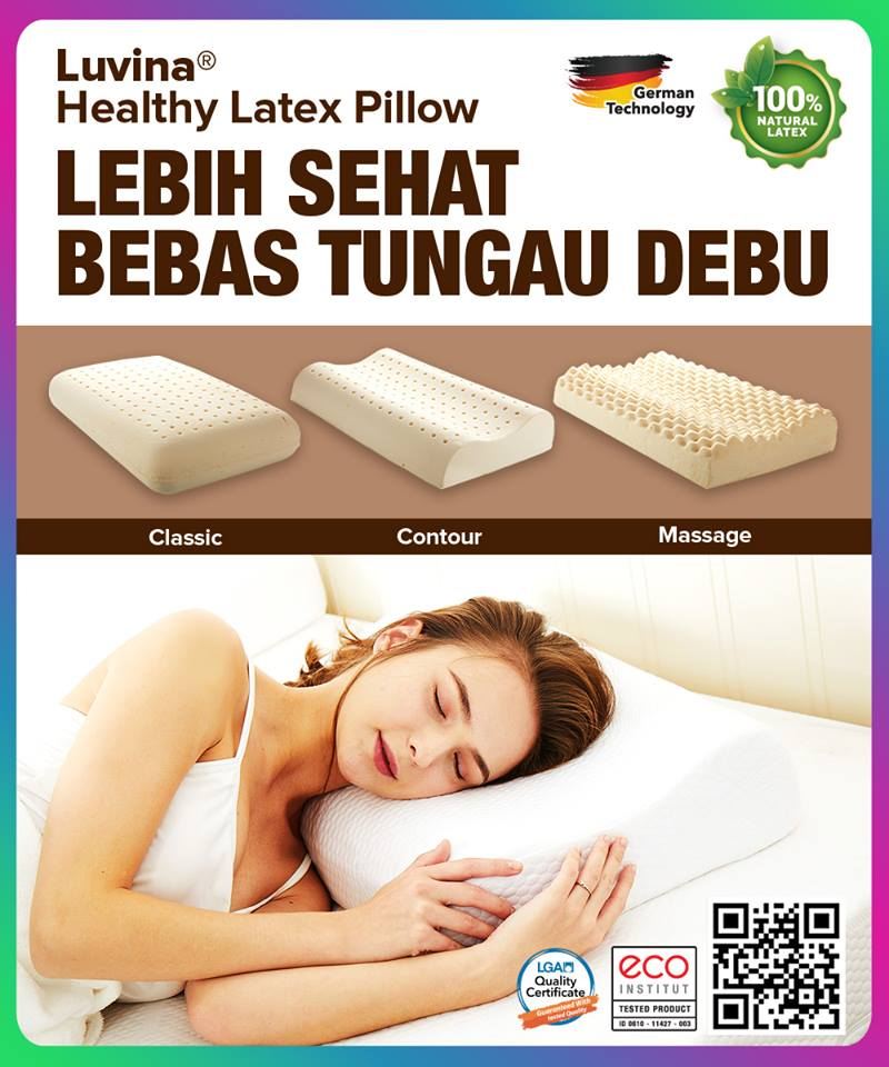 LUVINA HEALTHY LATEX PILLOW, CURRENT TREND OF HEALTHY PILLOW