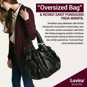 """OVERSIZED BAG"" CAN CAUSED NECK & BACK PAIN"