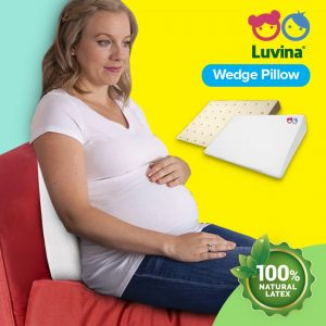 LUVINA WEDGE PILLOW, COMFORTABLE BACK REST FOR PREGNANT WOMAN