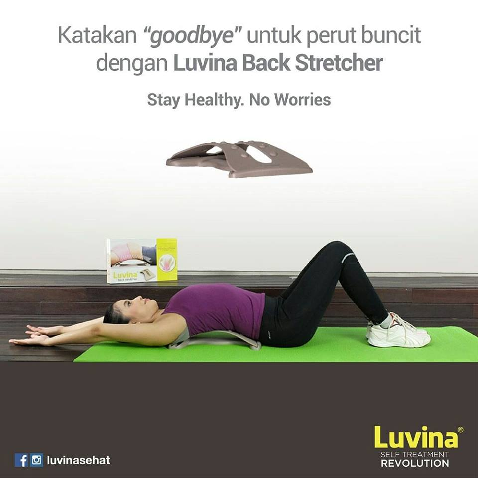 LUVINA BACK STRETCHER HELP TO PREVENT AND REDUCE DISTENDED STOMACH