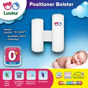 LUVINA POSITIONER BOLSTER SUPPORTS SPINE AND BABY NECK PERFECTLY