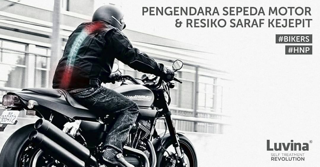 PENGENDARA SEPEDA MOTOR & RESIKO SARAF KEJEPIT