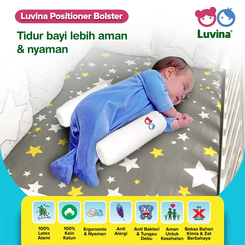 LUVINA POSITIONER BOLSTER, FOR MORE SAFE AND COMFORTABLE BABY SLEEP