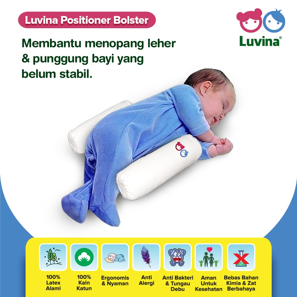 BABY SLEEP MORE SAFE AND COMFORTABLE WITH LUVINA POSITIONER BOLSTER
