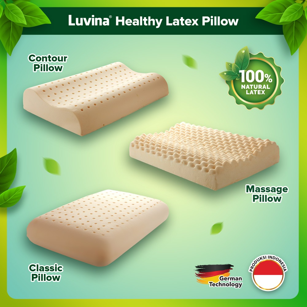 LUVINA LATEX PILLOW, AVOID ALLERGES OF DUST MITES