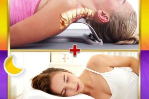 LUVINA NECK STRETCHER & LUVINA HEALTHY PILLOW, PERFECT COMBINATION TO OVERCOME NECK PAIN