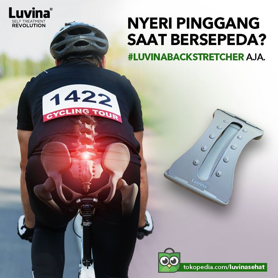 LOW BACK PAIN WHEN CYCLING ? JUST USE LUVINA BACK STRETCHER