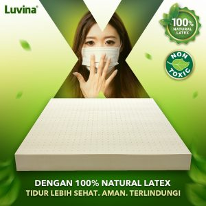 SLEEP HEALTHIER, SAFER, PROTECTED WITH 100% NATURAL LATEX!