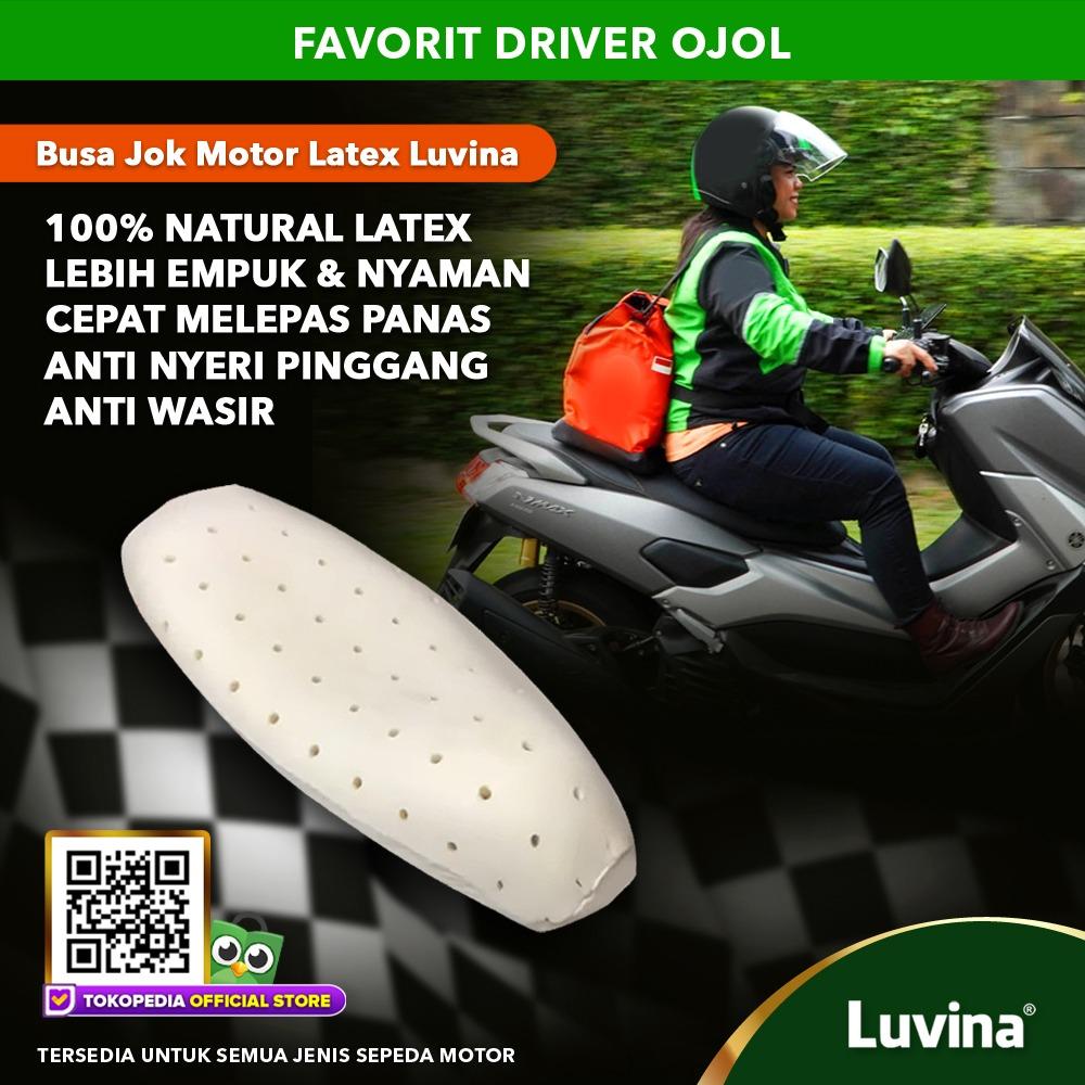 BUSA JOK MOTOR LUVINABUSA JOK MOTOR ANTI SAKIT PINGGANG BUSA JOK MOTOR LATEX ANTI KEMPES LUVINA PELAPIS BUSA JOK MOTOR PREMIUM 100% NATURAL LATEX