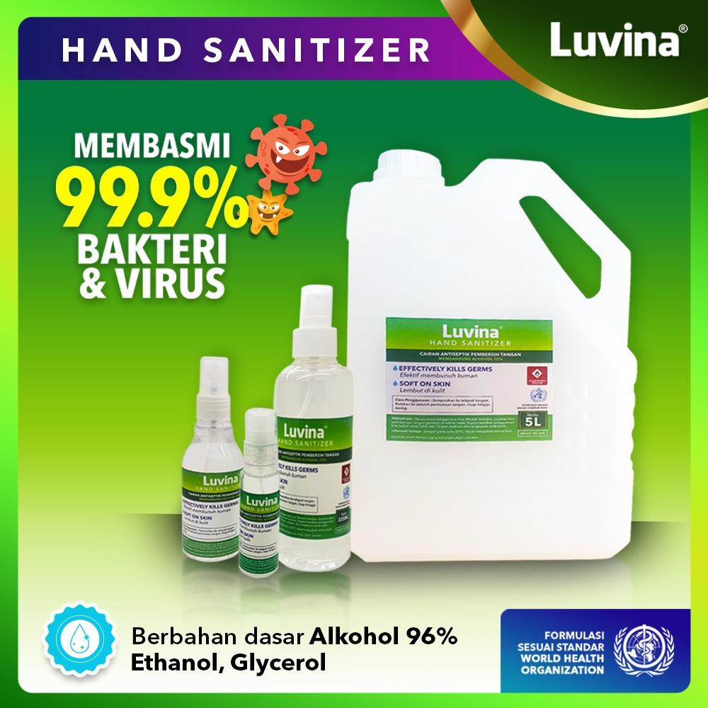 LUVINA HAND SANITIZER 99,9% EFEKTIF MEMBUNUH VIRUS DAN KUMAN PENYAKIT !