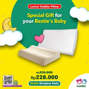 LUVINA TODDLER PILLOW, SPECIAL GIFT FOR YOUR BESTIE'S BABY!