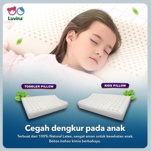 PREVENT SNORE IN CHILDREN WITH LUVINA TODDLER OR KIDS PILLOW