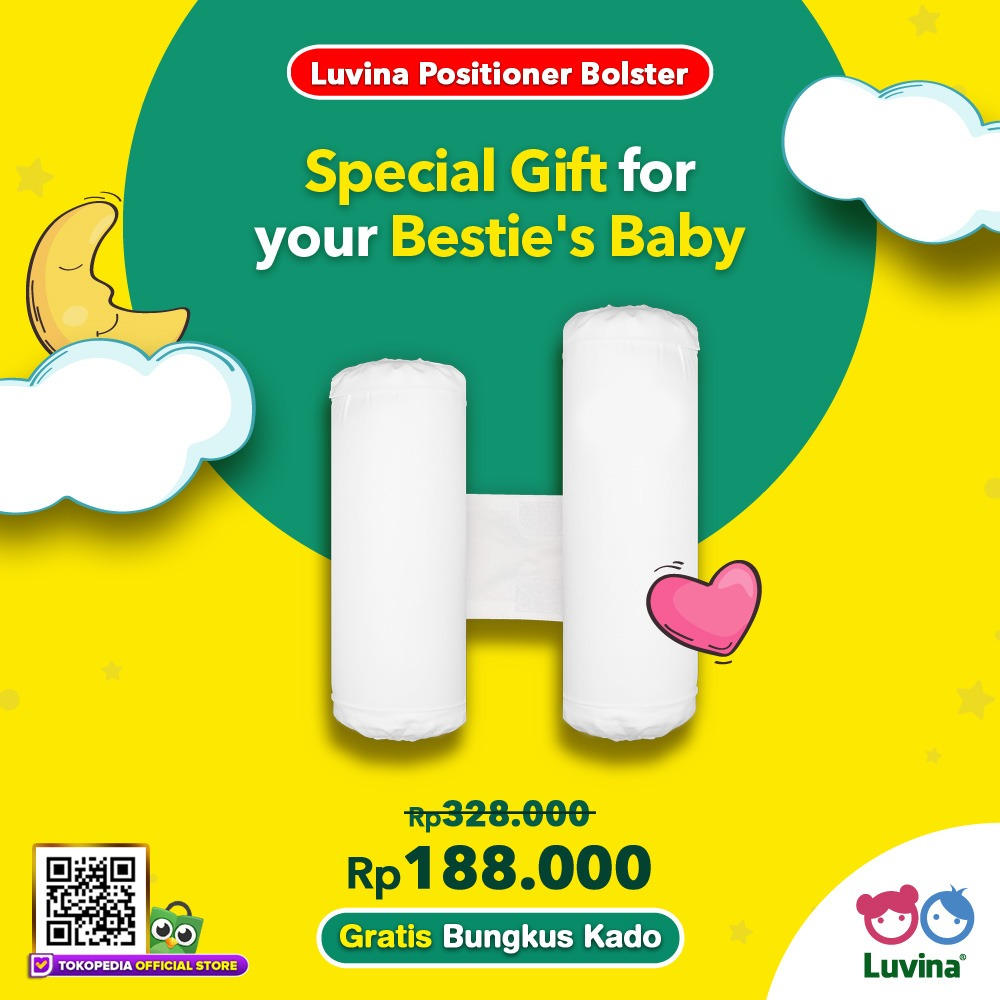 LUVINA POSITIONER BOLSTER, SPECIAL GIFT FOR YOUR BESTIE'S BABY!